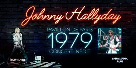 JOHNNY HALLYDAY PAVILLON DE PARIS (1979) de Nano Pucci